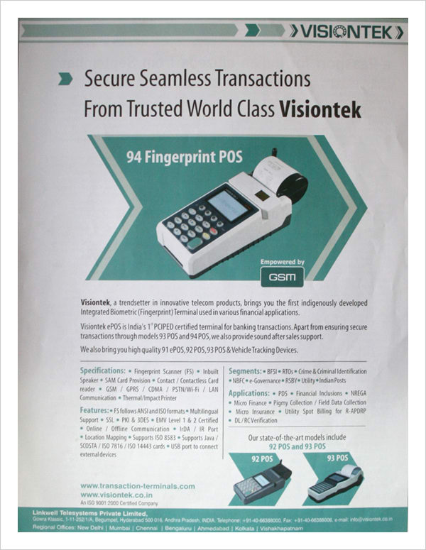 Secure Seamless Transactions From Visiontek
